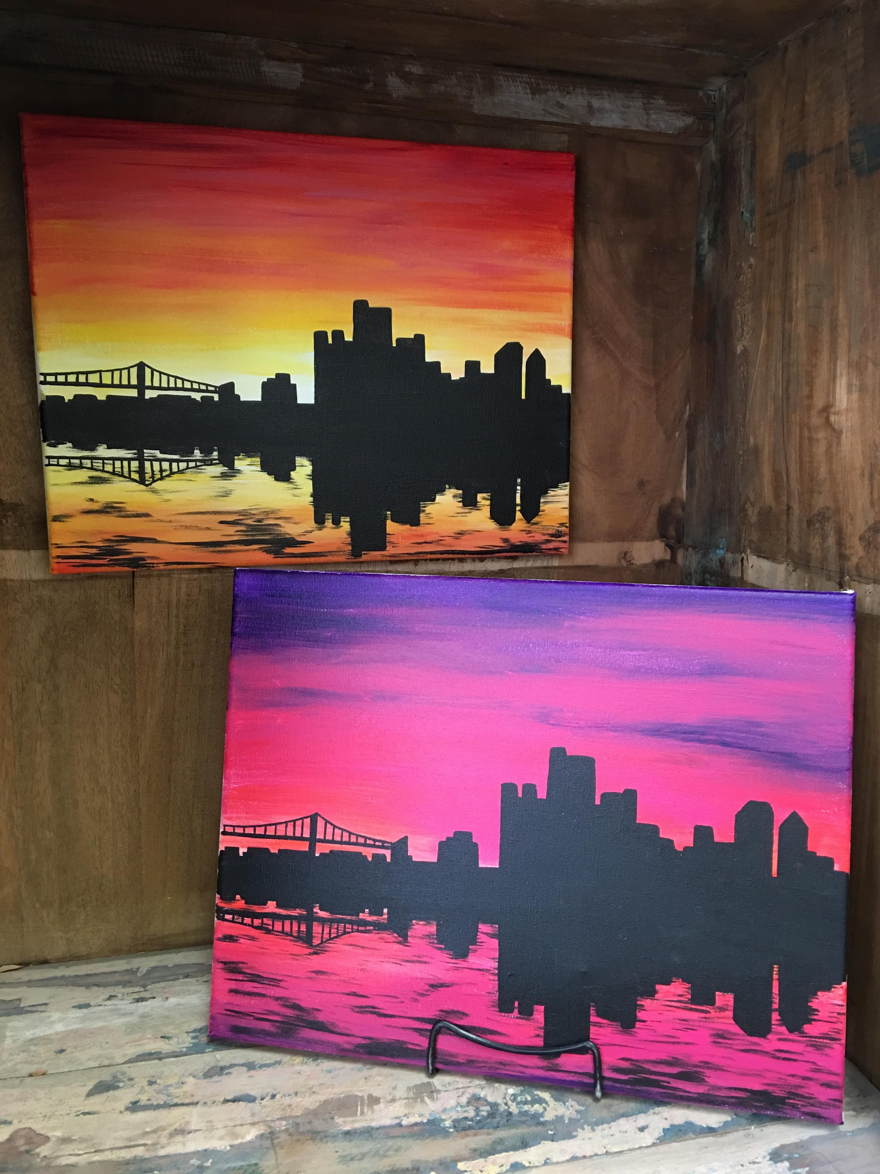 Canvas painting creative arts studios royal oak pottery painting detroit skyline solutioingenieria Gallery
