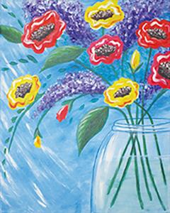 Canvas painting creative arts studios royal oak pottery painting classic bouquet solutioingenieria Gallery