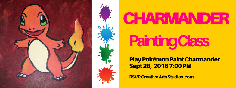 charmander Painting Class 9-28-16