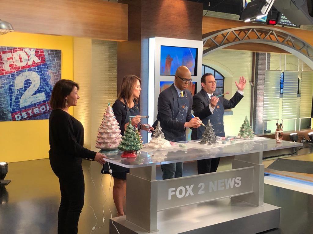 Fox2 News Detroit Vintage Christmas Trees
