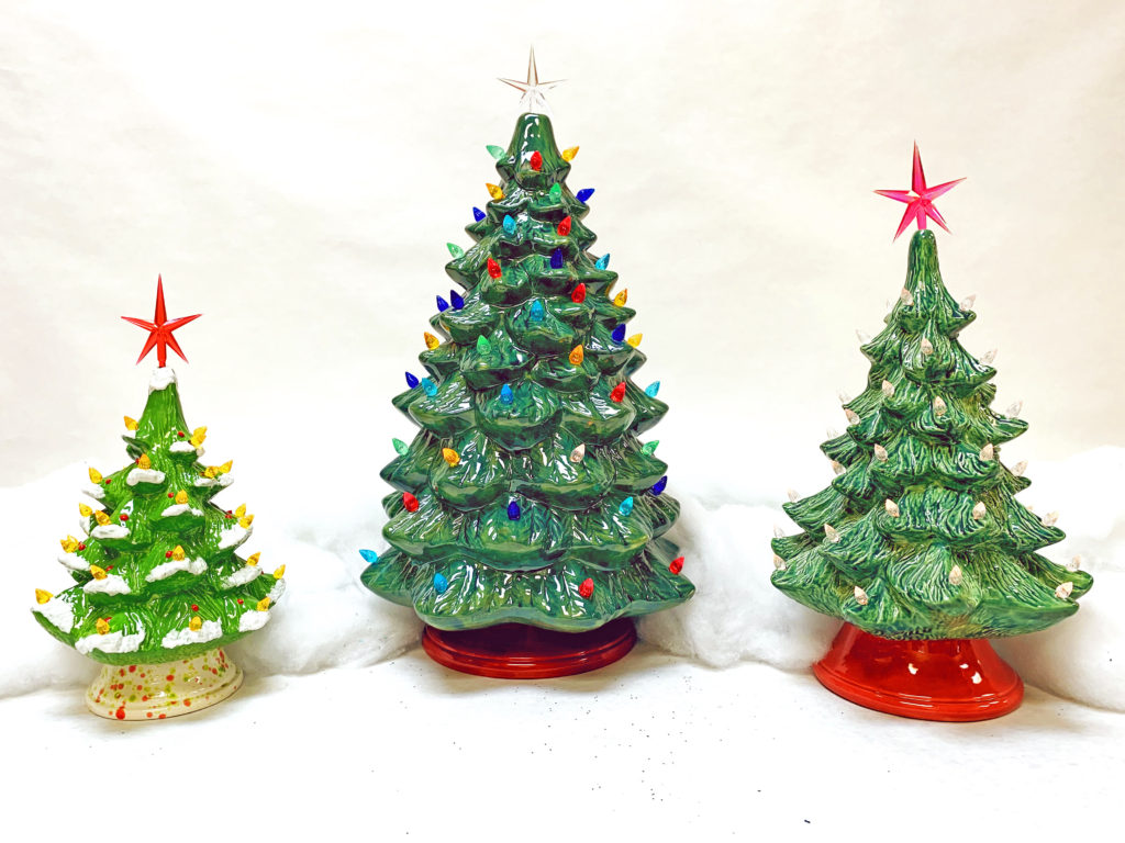 Vintage Ceramic Christmas Trees Creative Arts Studios Royal Oak
