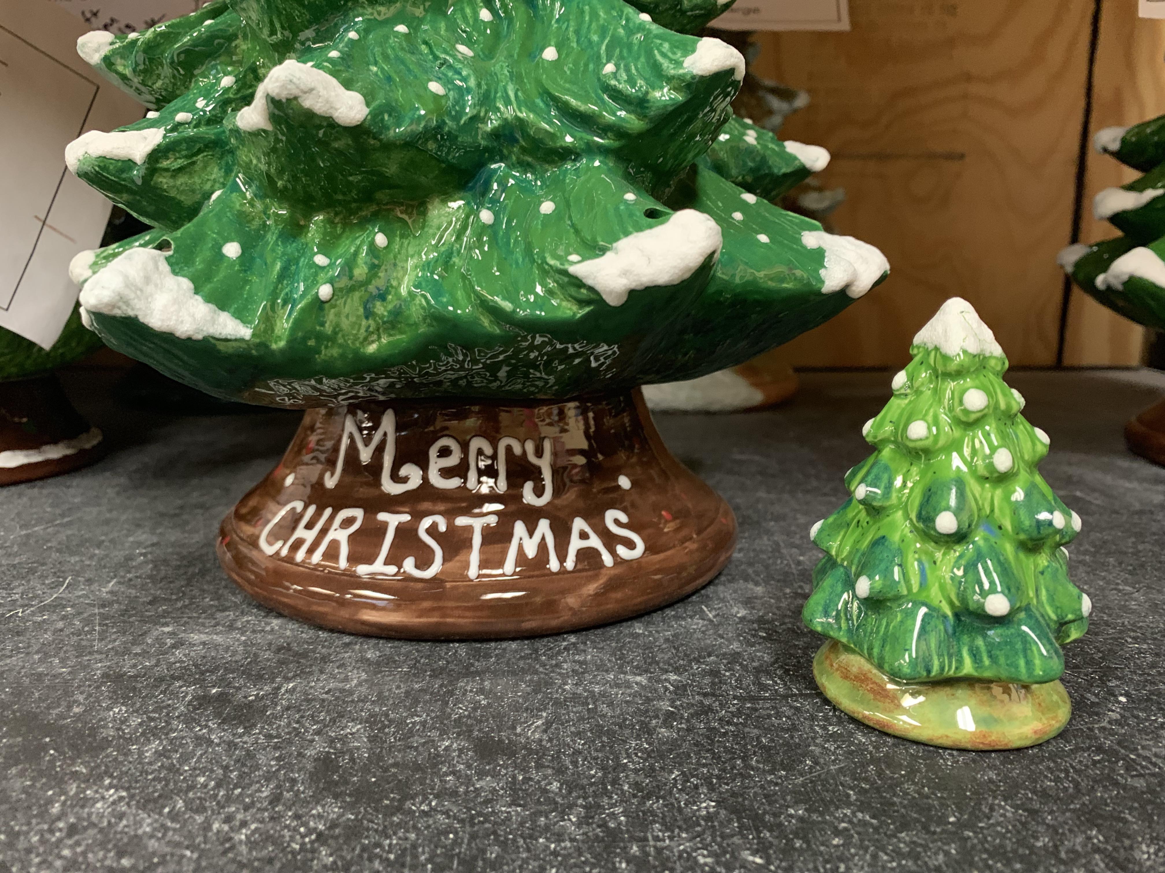 Vintage Ceramic Christmas Trees Creative Arts Studios Royal Oak Pottery Painting