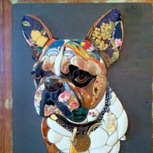 Mosaic Dog Art Class